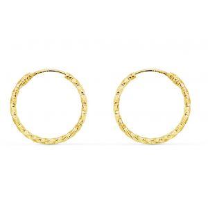 Pendientes Oro Aro 15 x 1,30 mm,