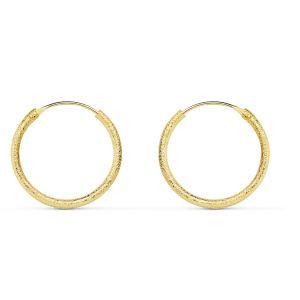 Pendientes Oro Aro 15 x 1,20 mm