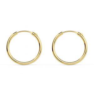 Pendientes Oro Aro 15 x 1,20 mm.