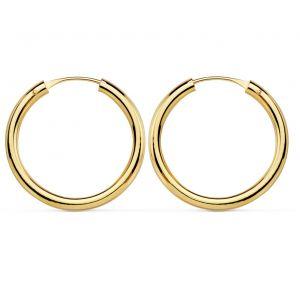 Pendientes Oro Aro 20 x 2 mm