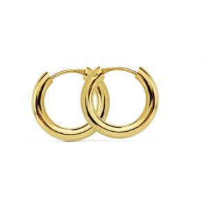 Pendientes Oro Aro 14 x 2,5 mm.