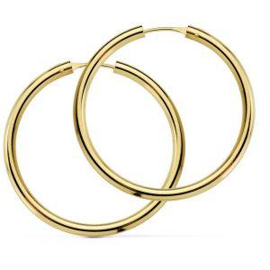 Pendientes Oro Aro 20 x 2,5 mm.