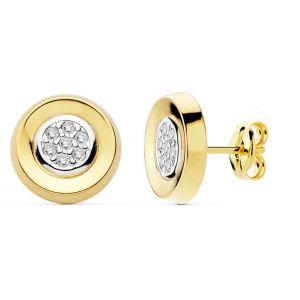 Pendientes Oro 10mm