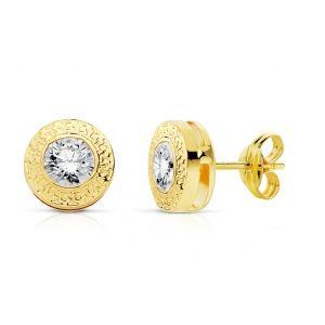 Pendientes Oro 7 mm.