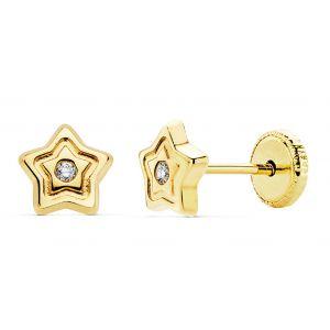 Pendientes Oro Bebé 6 mm.