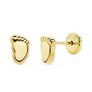 Pendientes Oro Bebé 6,5 x 4 mm.