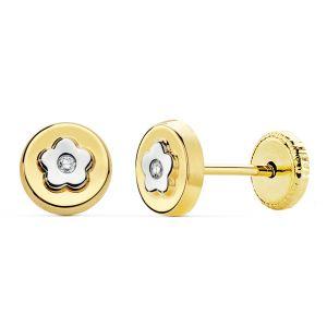 Pendientes Oro 6 mm.