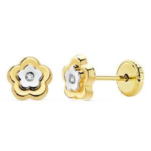 Pendientes Oro 6 x6 mm