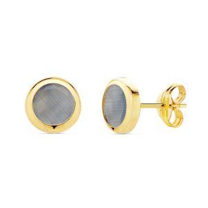 Pendientes Oro 6,5 mm.