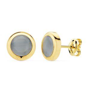 Pendientes Oro 8,5 mm.