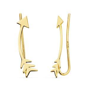 Pendientes Oro Trepadores 18 x 4 mm.