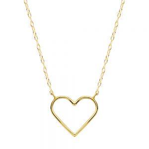 Gargantilla Oro Corazón 16 x 14 mm.