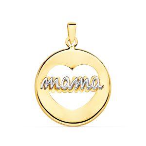 Colgante Oro Mamá 18 mm.