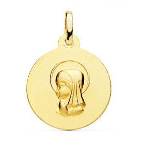 Medalla Oro Comunión 16 mm.