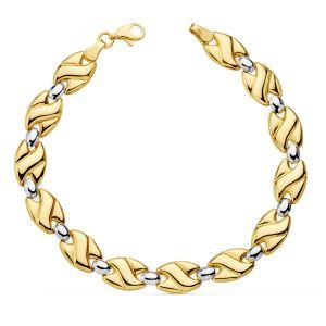 pulsera Oro Bicolor 19 cm.