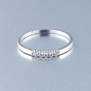 Anillo Oro Blanco con 5 Diamantes