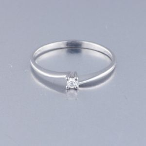 Anillo Oro Blanco con Diamante