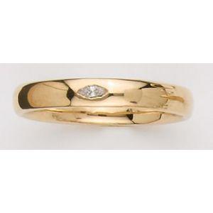 Alianza de Boda Oro Amarillo con Diamante