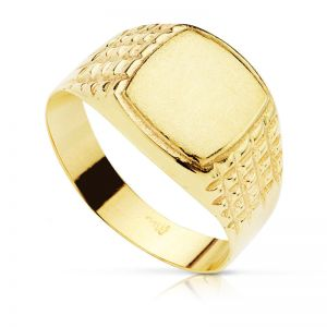 Anillo Oro Sello 10 x 9 mm.