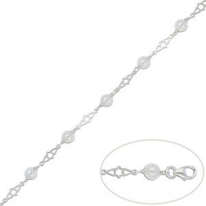 Pulsera Plata Perlas 5,5mm.