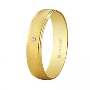 Alianza Oro 18k con diamante