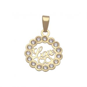 Colgante Oro Love 12mm