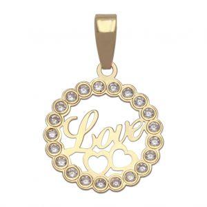Colgante Oro Love 15mm.