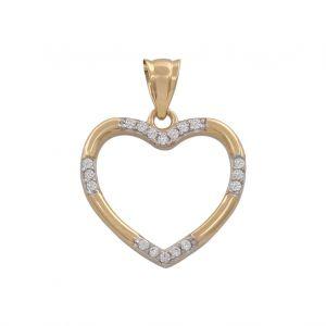 Colgante Oro Corazón 16x15mm
