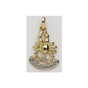 Colgante Oro horóscopo Escorpio con Diamante