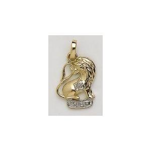 Colgante Oro Horóscopo Leo con Diamante
