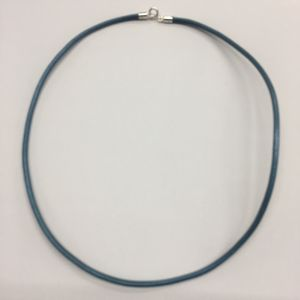 Cordón piel azul 45cm-2mm