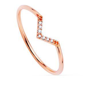 Anillo Oro Rosa Diamantes