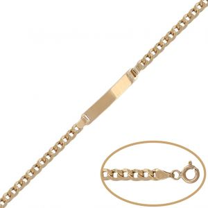 Pulsera Oro Placa 4 mm.