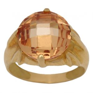 Anillo Oro Piedra Color s35