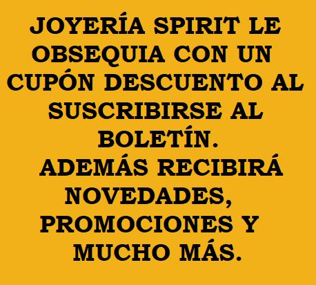 Newsletter Joyería Spirit